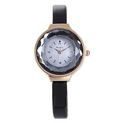 お買い得  レディース腕時計-L.WEST 女性用 クォーツ リストウォッチ 中国 カジュアルウォッチ PU バンド カジュアル ファッション ブラック 白 ブルー ブラウン