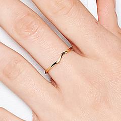 preiswerte Ringe-Damen Bandring - S925 Sterling Silber Zierlich, Klassisch 8 Gold Für Geburtstag / Geschenk