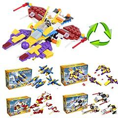 olcso -Építőkockák 205pcs Harcos Iskola / Stressz és szorongás oldására / Dekompressziós játékok Rakéta és űrhajó Ajándék
