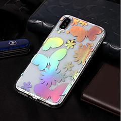 Недорогие Кейсы для iPhone 6-Кейс для Назначение Apple iPhone X / iPhone 8 IMD / С узором Кейс на заднюю панель Бабочка Мягкий ТПУ для iPhone X / iPhone 8 Pluss /