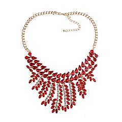 preiswerte Halsketten-Kubanischer Link / Anhängerketten Halsketten - Tropfen Europäisch, Modisch Schwarz, Regenbogen, Rot 46.5+8 cm Modische Halsketten Für Party, Zeremonie