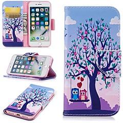 Недорогие Кейсы для iPhone-Кейс для Назначение Apple iPhone 6 / iPhone 7 Бумажник для карт / Кошелек / со стендом Чехол дерево Твердый Кожа PU для iPhone 8 / iPhone