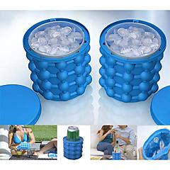 お買い得  キャンプ用調理器具-アイスバケット&ワインクーラー 伸縮性 シリコン アウトドア にとって キャンピング トラベル ブルー