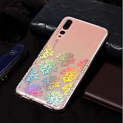 お買い得  Huawei Pシリーズケース/ カバー-ケース 用途 Huawei P20 lite / P20 メッキ仕上げ / パターン バックカバー レース印刷 ソフト TPU のために Huawei P20 lite / Huawei P20 Pro / Huawei P20