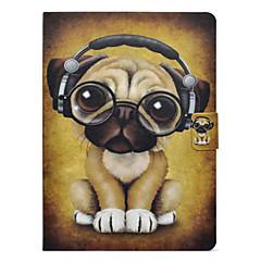 Недорогие Кейсы для iPhone-Кейс для Назначение Apple iPad mini 4 / iPad Mini 3/2/1 Бумажник для карт / Защита от удара / со стендом Чехол С собакой Твердый Кожа PU для iPad Mini 3/2/1 / iPad Mini 4