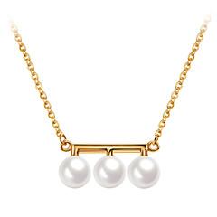 preiswerte Halsketten-Damen Anhängerketten / Ketten - 18K vergoldet, S925 Sterling Silber Zierlich Gold 40 cm Modische Halsketten Für Geschenk, Alltag