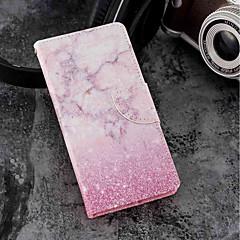 Недорогие Чехлы и кейсы для Sony-Кейс для Назначение Sony Xperia XZ2 / Xperia XZ2 Compact Бумажник для карт / Кошелек / со стендом Чехол Мрамор Твердый Кожа PU для Xperia