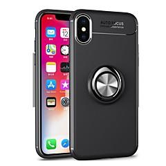 Недорогие Кейсы для iPhone-Кейс для Назначение Apple iPhone 8 / iPhone 8 Plus / iPhone 7 Plus Кольца-держатели Кейс на заднюю панель Однотонный Мягкий ТПУ для