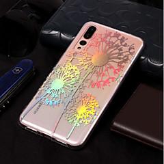 お買い得  Huawei Pシリーズケース/ カバー-ケース 用途 Huawei P20 lite / P20 メッキ仕上げ / パターン バックカバー タンポポ ソフト TPU のために Huawei P20 lite / Huawei P20 Pro / Huawei P20