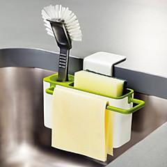 abordables Almacenamiento para la Cocina-Organización de cocina Repisas y Soportes Plástico Nuevo diseño / Almacenamiento / Fácil de Usar 1pc