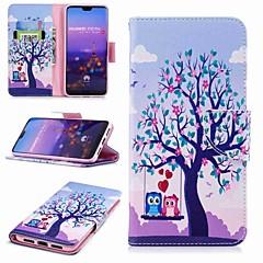 お買い得  Huawei Pシリーズケース/ カバー-ケース 用途 Huawei P20 Pro / P20 lite ウォレット / カードホルダー / スタンド付き フルボディーケース フクロウ / 木 ハード PUレザー のために Huawei P20 / Huawei P20 Pro / Huawei P20 lite / P10 Lite / P10