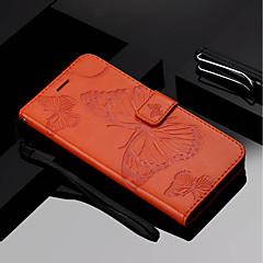 Недорогие Чехлы и кейсы для Huawei Mate-Кейс для Назначение Huawei Mate 10 pro / Mate 10 lite Кошелек / Бумажник для карт / со стендом Чехол Бабочка Твердый Кожа PU для Mate 10 / Mate 10 pro / Mate 10 lite