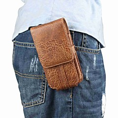 Недорогие Универсальные чехлы и сумочки-Кейс для Назначение Huawei P20 Pro P20 Бумажник для карт Мешочек Однотонный Мягкий Настоящая кожа для Huawei P20 lite Huawei P20 Pro