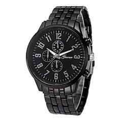 お買い得  メンズ腕時計-男性用 ドレスウォッチ 中国 クロノグラフ付き / クリエイティブ ステンレス バンド ファッション ブラック / シルバー