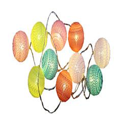 preiswerte LED Lichtstreifen-1.5 Leuchtgirlanden 10 LEDs Warmes Weiß Dekorativ AA-Batterien angetrieben 1pc