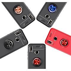 voordelige Hoesjes / covers voor Huawei-hoesje Voor Huawei P20 / P10 Lite Ringhouder Achterkant Effen Zacht TPU voor Huawei P20 lite / Huawei P20 Pro / Huawei P20