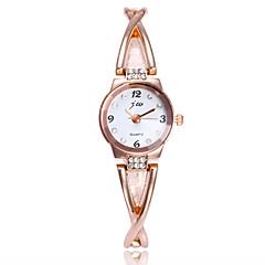 preiswerte Damenuhren-Damen Armbanduhr / Armband-Uhr Chinesisch Imitation Diamant / Armbanduhren für den Alltag Legierung Band Minimalistisch / Modisch Silber