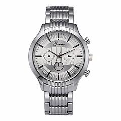 お買い得  メンズ腕時計-男性用 ドレスウォッチ 中国 クロノグラフ付き ステンレス バンド クリエイティブ / ファッション シルバー