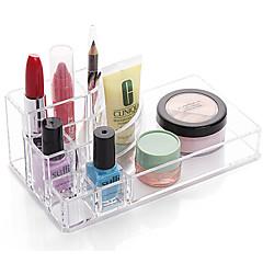 abordables Almacenamiento para Dormitorio y Salón-El plastico Rectángulo Nuevo diseño Casa Organización, 1pc Soportes / Almacenamiento de Maquillaje / Organizadores de Escritorio