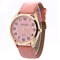 お買い得  レディース腕時計-Xu™ 女性用 リストウォッチ クォーツ カジュアルウォッチ PU バンド ハンズ クリエイティブ カジュアル ブラック / 白 / ブルー - ライトブルー ピンク カーキ色 1年間 電池寿命
