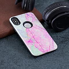 Недорогие Кейсы для iPhone 5-Кейс для Назначение Apple iPhone X / iPhone 8 Защита от удара / Рельефный / С узором Кейс на заднюю панель Мрамор Твердый ПК для iPhone X