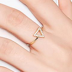preiswerte Ringe-Damen Kubikzirkonia Bandring - S925 Sterling Silber Zierlich, Koreanisch, Modisch 8 Gold Für Alltag / Formal