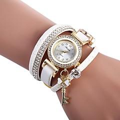preiswerte Damenuhren-Damen Armband-Uhr Chinesisch Armbanduhren für den Alltag / lieblich / Imitation Diamant PU Band Böhmische / Modisch Schwarz / Weiß / Rot / Ein Jahr