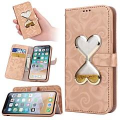 お買い得  iPhone 5S/SE ケース-ケース 用途 Apple iPhone X / iPhone XS / iPhone XR リキッド フルボディーケース ハート ハード PUレザー のために iPhone XS / iPhone XR / iPhone XS Max