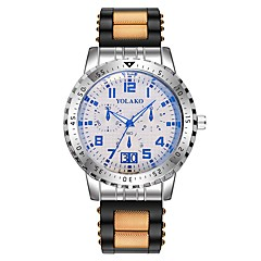 お買い得  メンズ腕時計-男性用 スポーツウォッチ 中国 クロノグラフ付き / クリエイティブ シリコーン バンド ファッション ブラック