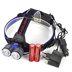 preiswerte Stirnlampen-Stirnlampen LED 5000lm 1 Beleuchtungsmodus Professionell / Verschleißfest / Leichtes Gewicht Camping / Wandern / Erkundungen / Für den