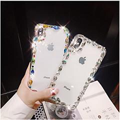 Недорогие Кейсы для iPhone 7-Кейс для Назначение Apple iPhone X iPhone 7 Plus Стразы Кейс на заднюю панель Блеск Твердый ТПУ для iPhone X iPhone 8 Pluss iPhone 8