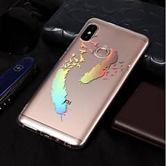 Недорогие Чехлы и кейсы для Xiaomi-Кейс для Назначение Xiaomi Redmi Note 5 Pro / Redmi 5A Покрытие / С узором Кейс на заднюю панель Перья Мягкий ТПУ для Xiaomi Redmi Note