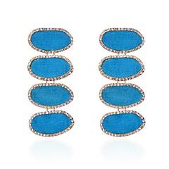preiswerte Ohrringe-Damen Kubikzirkonia Tropfen-Ohrringe - Bikini Asche / Rot / Blau Für Zeremonie / Karnival
