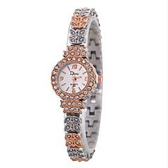 preiswerte Damenuhren-Xu™ Damen Kleideruhr / Armbanduhr Chinesisch Kreativ / Armbanduhren für den Alltag / Imitation Diamant Legierung Band Freizeit / Modisch Silber / Rotgold