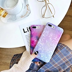 Недорогие Кейсы для iPhone 7 Plus-Кейс для Назначение Apple iPhone X / iPhone 7 Полупрозрачный Кейс на заднюю панель Градиент цвета Мягкий ТПУ для iPhone X / iPhone 8