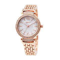 preiswerte Damenuhren-Damen Armbanduhr Japanisch Imitation Diamant Legierung Band Modisch / Elegant Rotgold / Ein Jahr / Sony SR626SW