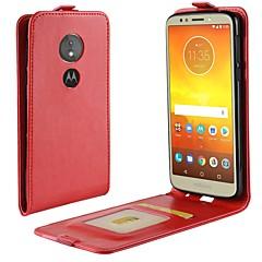 Недорогие Чехлы и кейсы для Motorola-Кейс для Назначение Motorola MOTO G6 / Moto G6 Play Бумажник для карт / Флип Чехол Однотонный Твердый Кожа PU для Moto X4 / MOTO G6 / Moto G6 Play