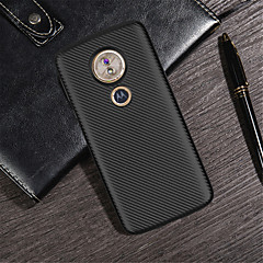 Недорогие Чехлы и кейсы для Motorola-Кейс для Назначение Motorola Moto G6 Play / Moto G6 Plus Рельефный Кейс на заднюю панель Однотонный Мягкий ТПУ для MOTO G6 / Moto G6 Play / Moto G6 Plus