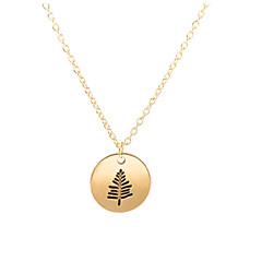 preiswerte Halsketten-Damen Anhängerketten / Charm Halskette - Blattform Einfach, Süß Gold, Silber 46 cm Modische Halsketten 1pc Für Geburtstag, Geschenk, Alltag