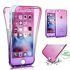 Недорогие Кейсы для iPhone 7 Plus-Кейс для Назначение Apple iPhone X / iPhone 8 Полупрозрачный Чехол Градиент цвета Мягкий ТПУ для iPhone X / iPhone 8 Pluss / iPhone 8