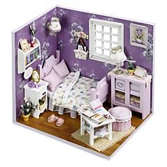 abordables Casas de Muñecas y Accesorios-Casa de Muñecas con luz LED Romántico 1 pcs Piezas Adolescente Regalo