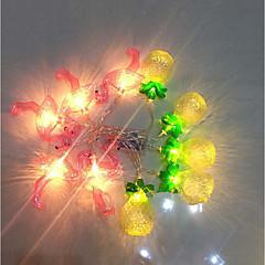 preiswerte LED Lichtstreifen-1.5 Leuchtgirlanden 10 LEDs Warmes Weiß / Weiß Batterien angetrieben