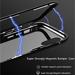 Недорогие Кейсы для iPhone 6-Кейс для Назначение Apple iPhone X / iPhone 8 Прозрачный / Магнитный Кейс на заднюю панель Однотонный Твердый Алюминий для iPhone XS / iPhone XR / iPhone XS Max