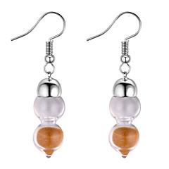 preiswerte Ohrringe-Damen Transparent Tropfen-Ohrringe - Kürbis Einfach, Modisch Weiß / Rosa / Golden Für Normal / Alltag