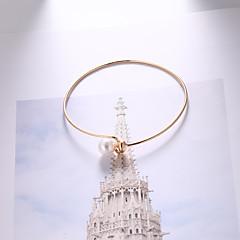 preiswerte Armbänder-Damen Dicke Kette Armband - Künstliche Perle Einfach, Europäisch, Modisch Armbänder Gold Für Alltag