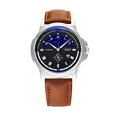 お買い得  メンズ腕時計-YAZOLE 男性用 リストウォッチ カジュアルウォッチ / クール PU バンド カジュアル / ファッション ブラック / ブルー / ブラウン