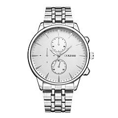 preiswerte Herrenuhren-Herrn Armbanduhr Quartz Armbanduhren für den Alltag Legierung Band Analog Modisch Silber - Weiß Schwarz