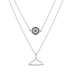 preiswerte Halsketten-Damen Lang Anhängerketten - Anhänger Stil Silber 48+5 cm Modische Halsketten 1pc Für Ausgehen, Geburtstag