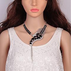 preiswerte Halsketten-Damen Kubikzirkonia Nicht übereinstimmend Halsketten / Ketten / Statement Ketten - Schlange Erklärung, damas, Europäisch, Modisch Cool Silber, Regenbogen, Dark Gray 52+9 cm Modische Halsketten Schmuck