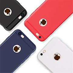 Недорогие Кейсы для iPhone X-Кейс для Назначение Apple iPhone 8 / iPhone 8 Plus Рельефный Кейс на заднюю панель Однотонный Мягкий ТПУ для iPhone X / iPhone 8 Pluss /